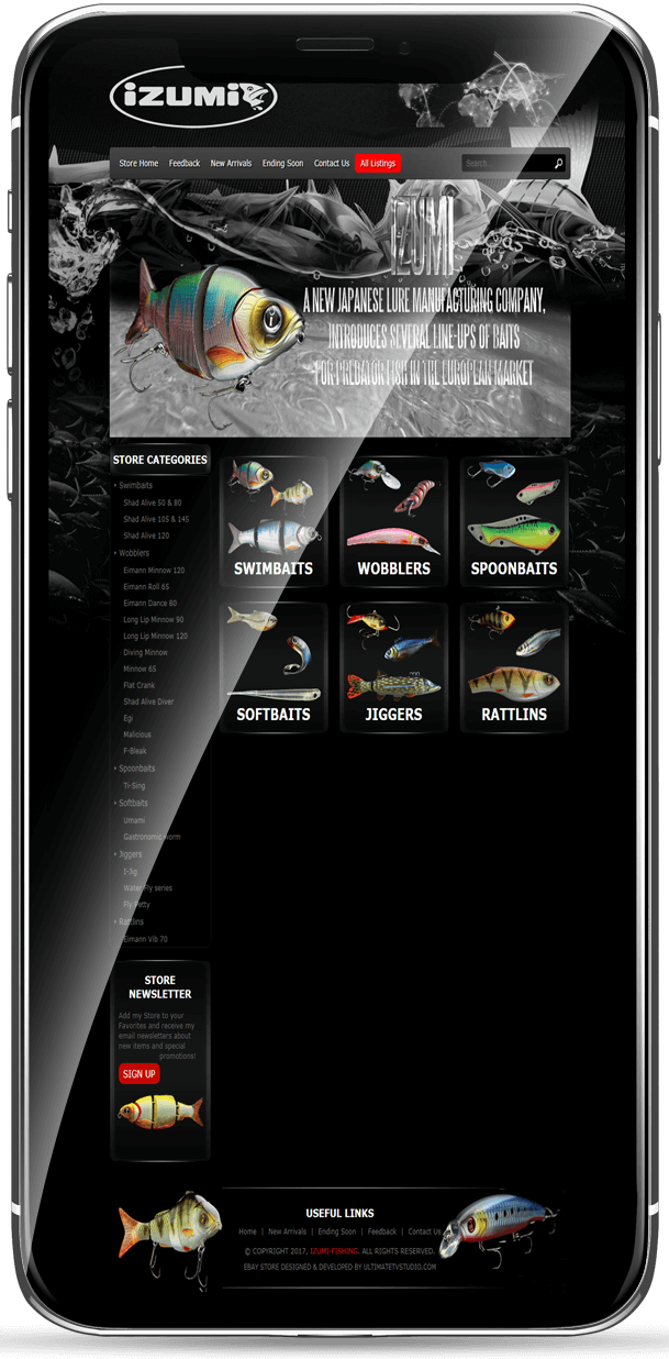 eBay Store design for fishing